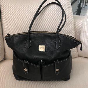 Dooney Bourke Black Zipper Tote Bag